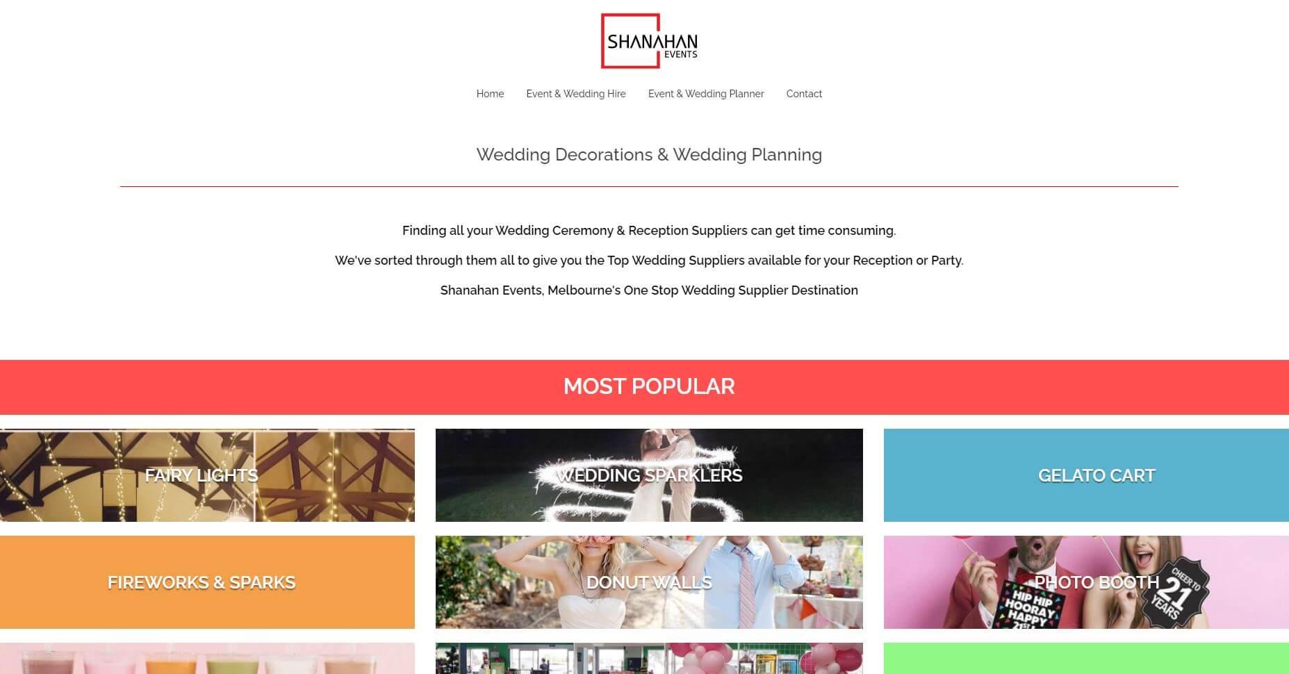 Shanahan Events Wedding Hire Melbourne
