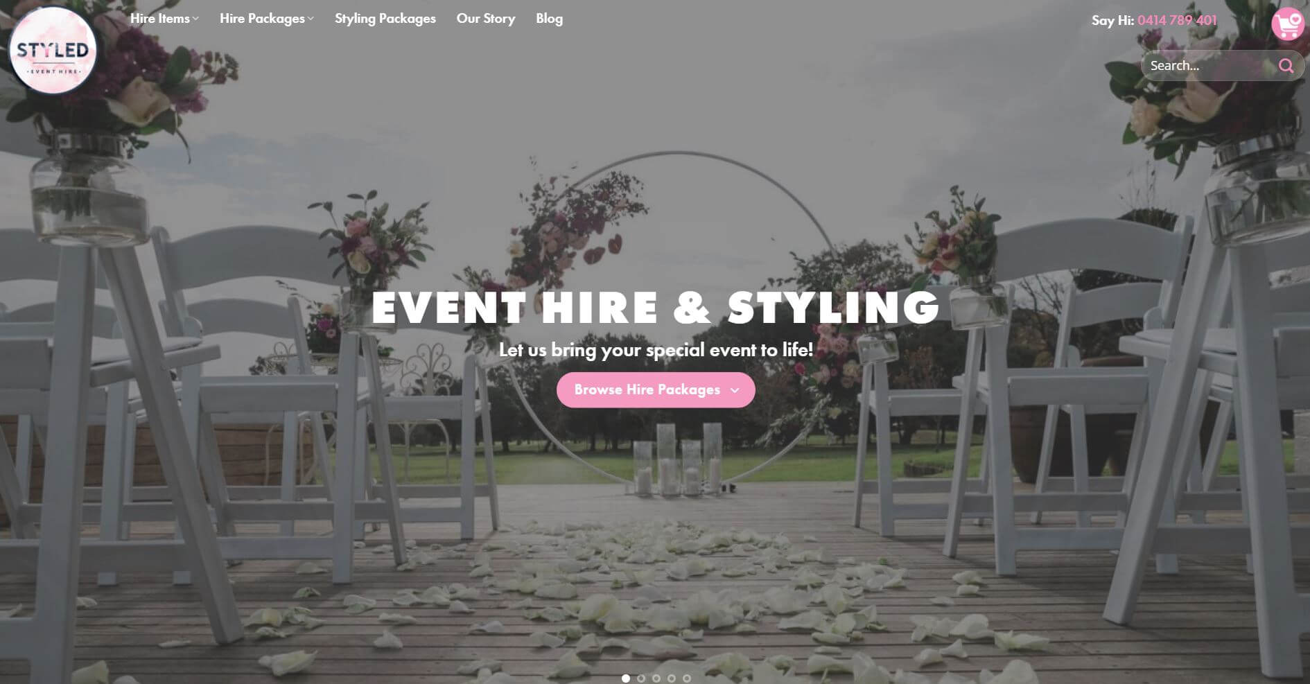 Styled Event Hire Wedding Melbourne