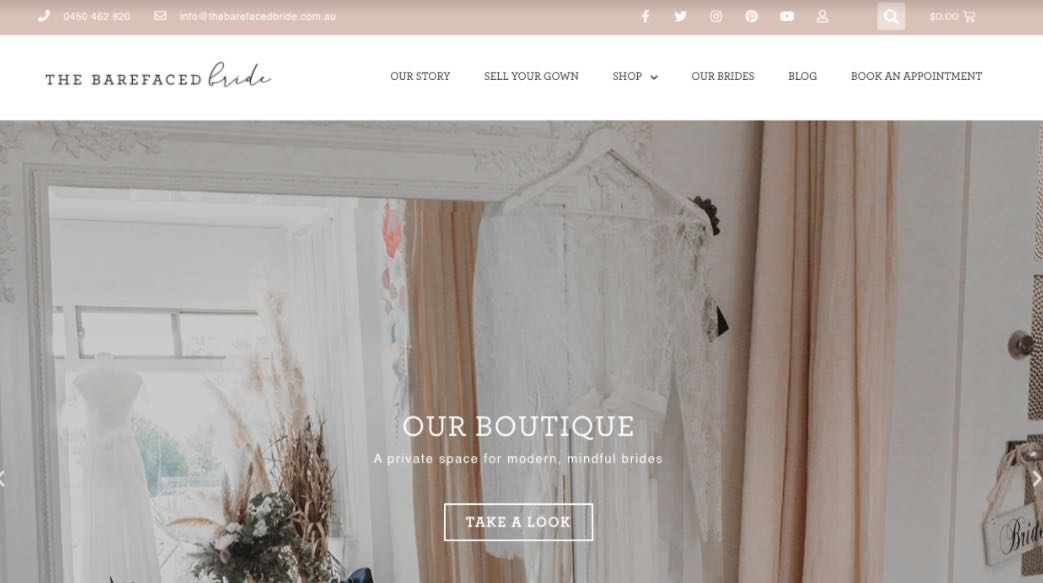 The Barefaced Preloved Wedding Dress Shop Melbourne