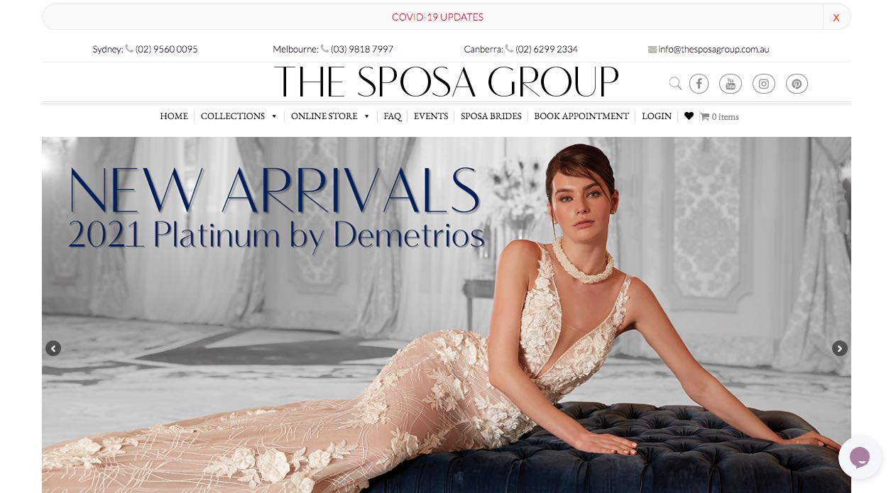 The Sposa Group Wedding Dress Designer Shop Melbourne