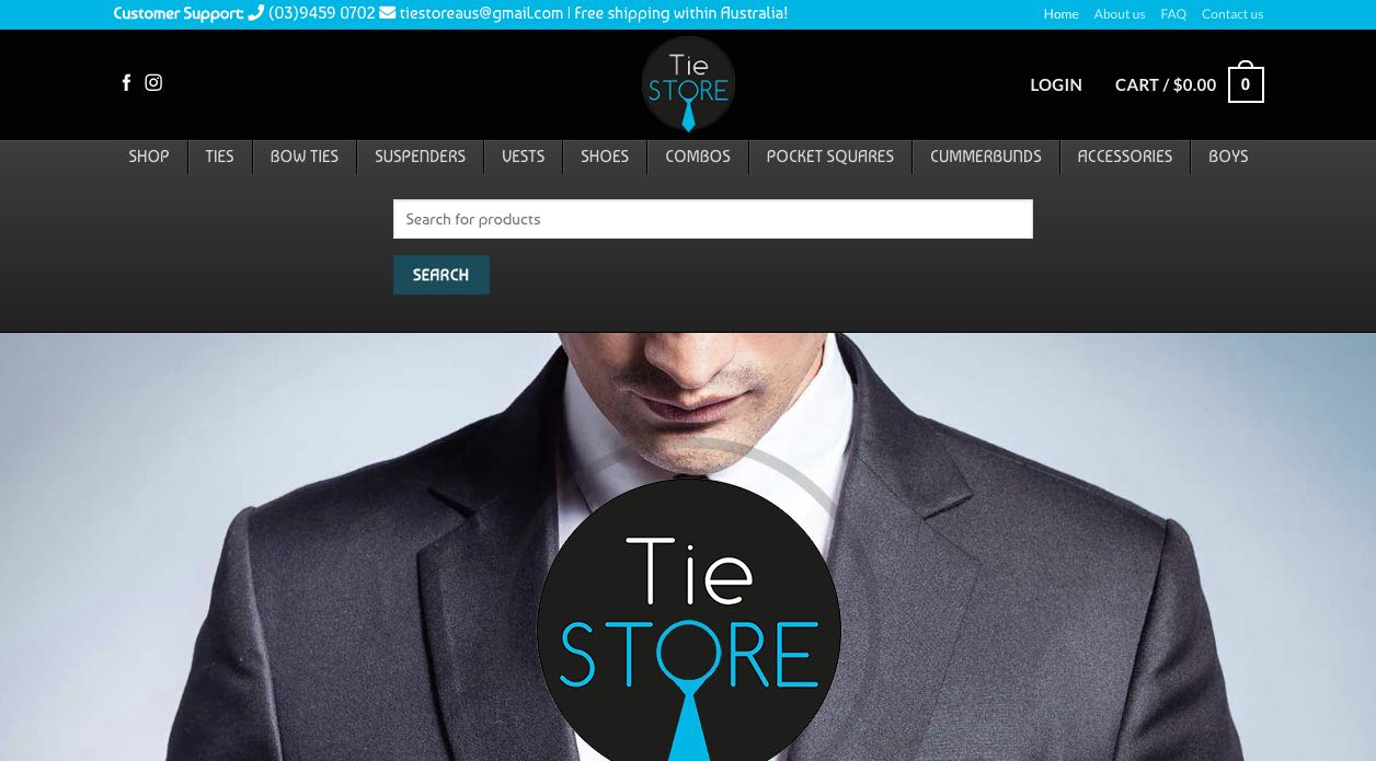 Tie Store Flower Girl Dress Shop Melbourne