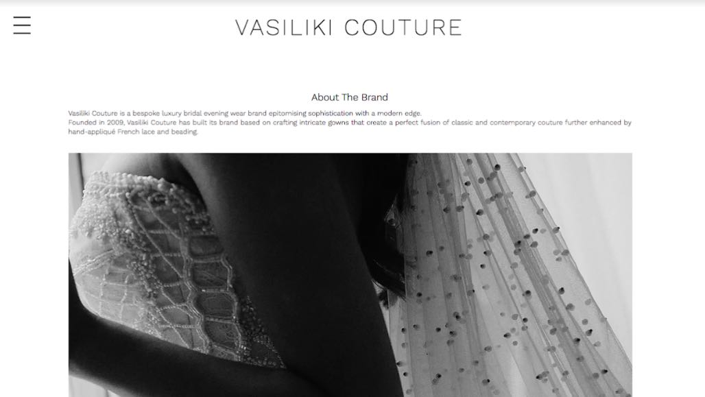 Vasiliki Wedding Dress Designer Shop Melbourne