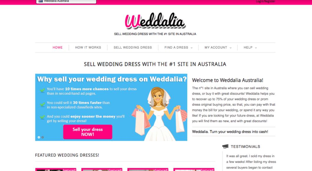 Weddalia Preloved Wedding Dress Shop Melbourne