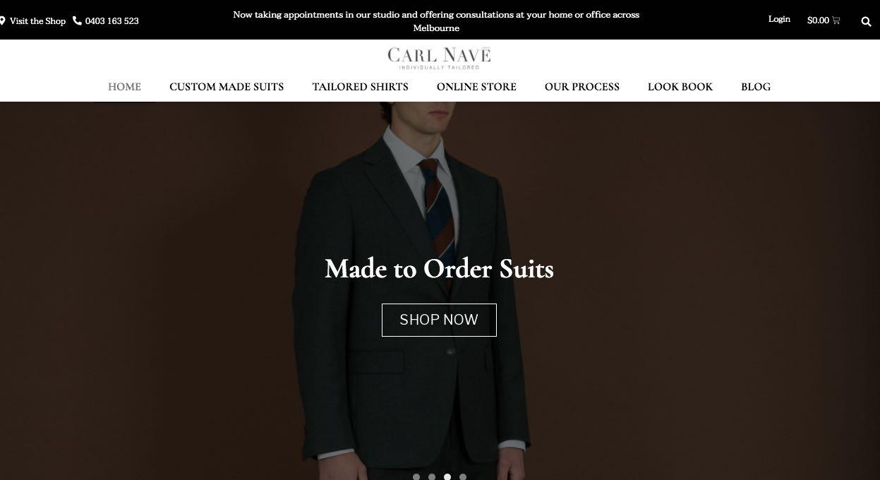 Carl Nave Suit Tailors Melbourne