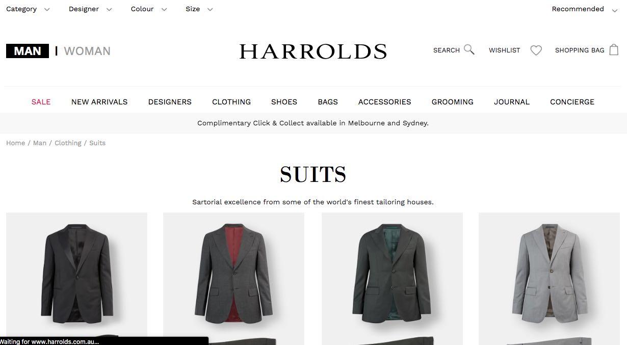 Harrolds Suit Tailors Melbourne