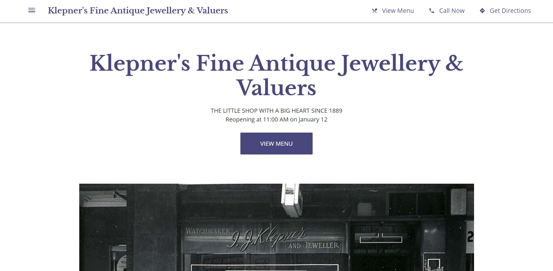 Klepner's Fine Antique Jewellery & Valuers