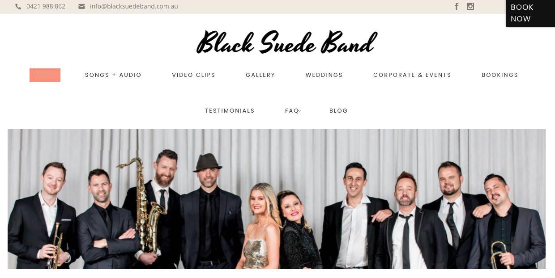 Black Suede Wedding Band Melbourne