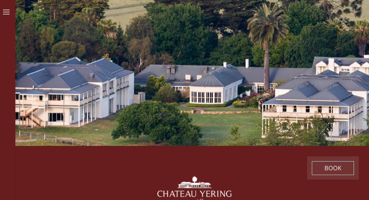 Chateau Yering Historic House Hotel Wedding Reception Venue Yarra Valley