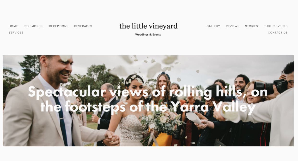 The Little Vineyard Wedding Reception Venue Yarra Valley