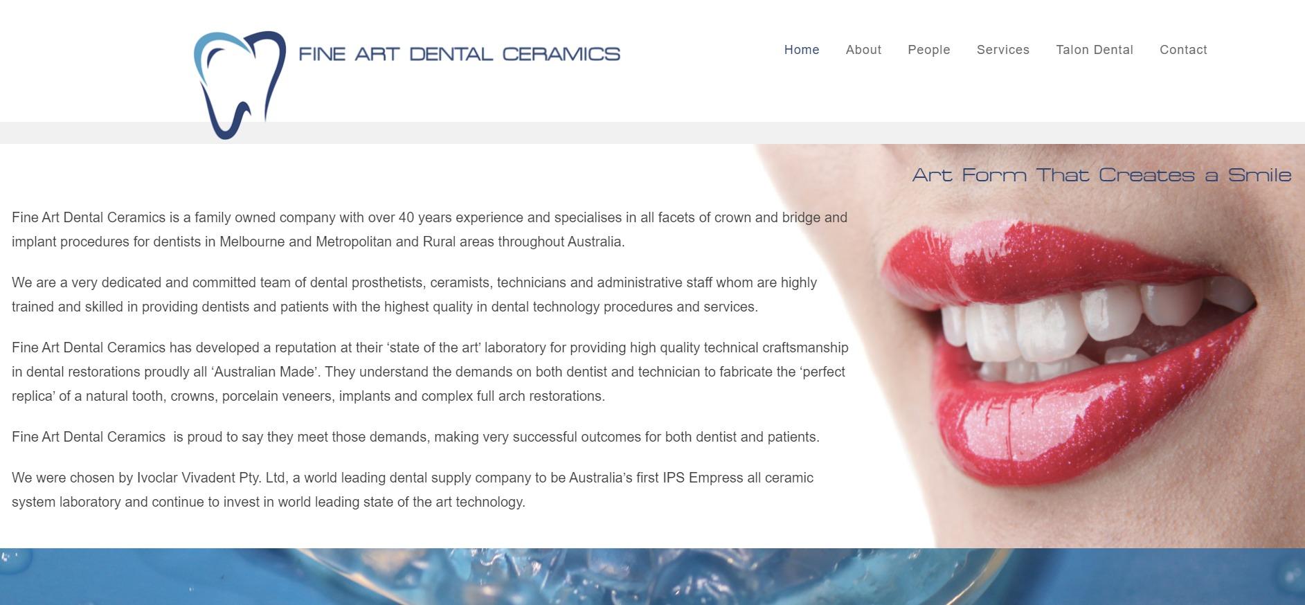 Fine Art Dental Ceramics
