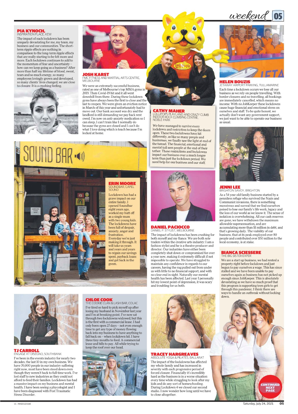 Herald Sun 24th July 2021 2